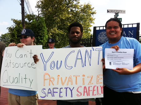Kean University Faculty, Staff and Students Oppose Campus Outsourcing