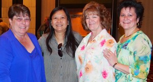 (left to right) URA Kay Schechter and Christine O'Connell with Denise Dill from CWA and Lucy