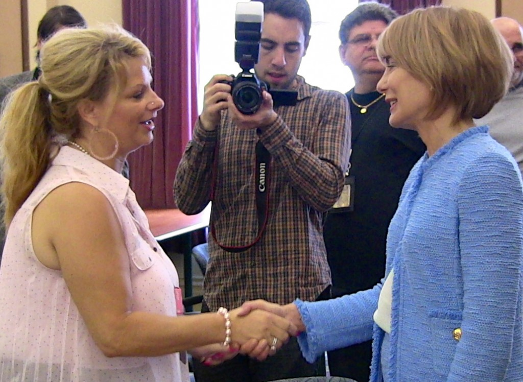 Sen. Buono and TESC-AFT member