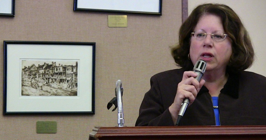 Sen. Linda Greenstein talked about the state budget