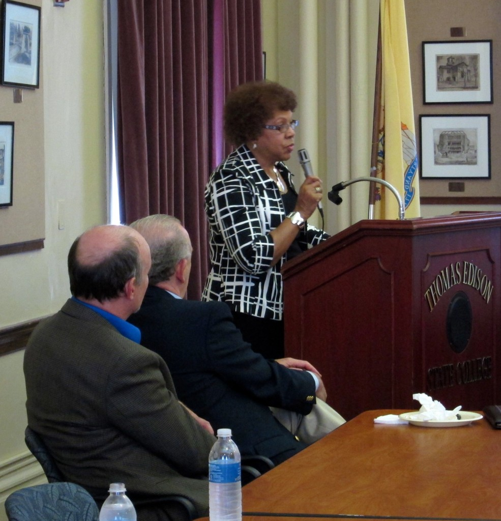 State Sen. Shirley Turner gave a welcome to her home district.