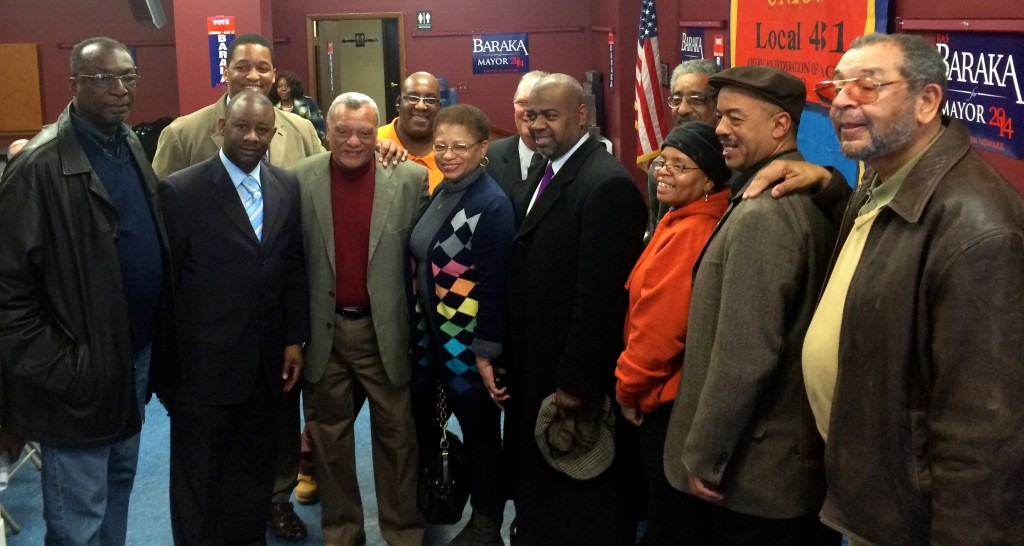Baraka with slate members and elected officials