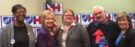 Liz Lynch with Hillary Clinton and Randi Weingarten