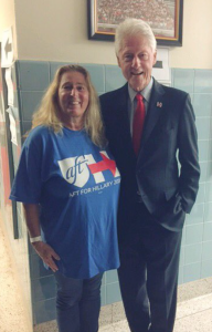 Donna Chiera and President Bill Clinton, May 27 in Edison