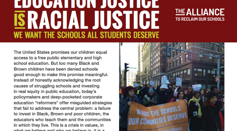 ed justice is racial justice