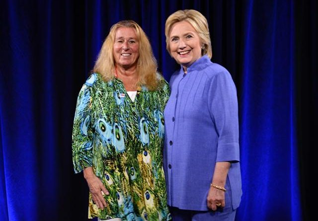 Donna M. Chiera and Secretary Clinton at the Democratic Convention, 2016
