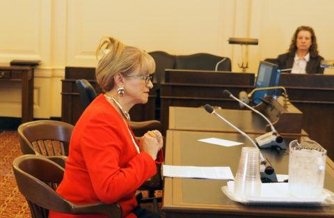 AFTNJ Exec. VP for Higher Education Susanna Tardi testifies
