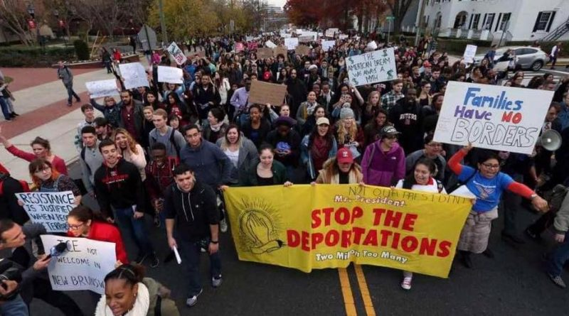 Rutgers sanctuary march Nov 2016