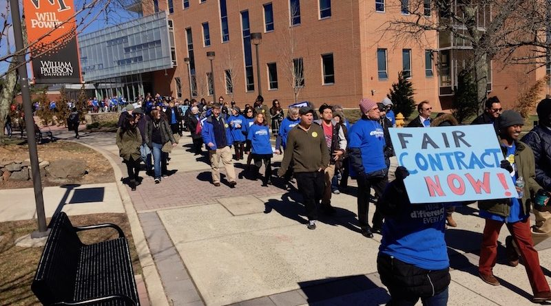 William Paterson contract rally