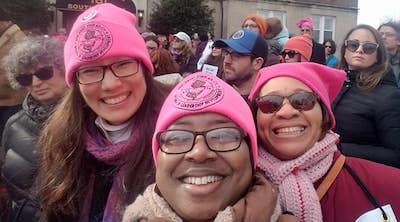 URA members at Women's March