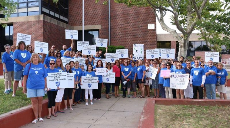 Perth Amboy Federation-AFT members rally before Board of Education meeting