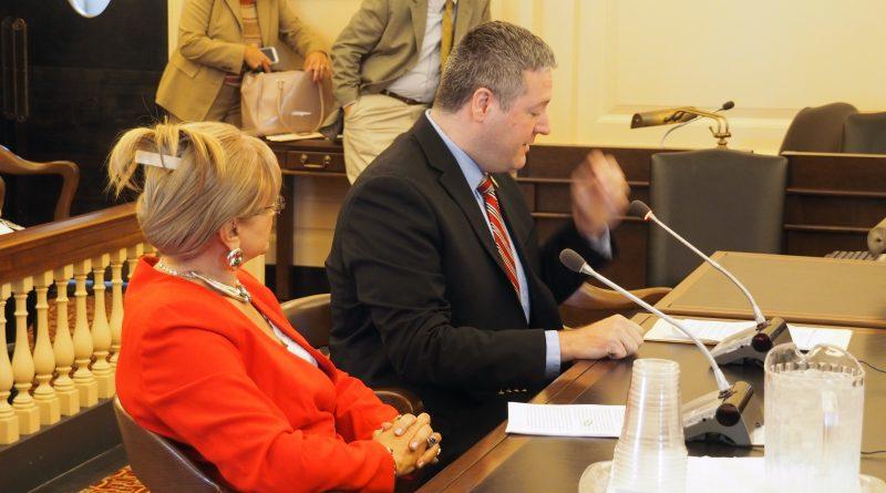 Assemblyman Dan Benson testifies with Dr. Tardi