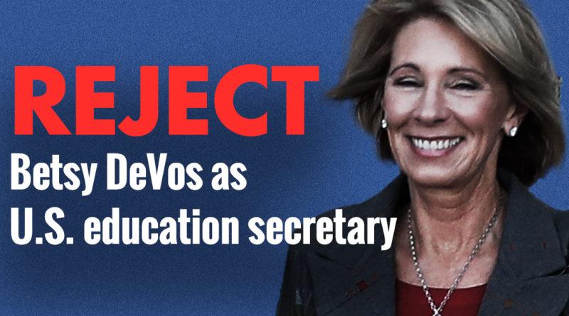 Reject Betsy DeVos Thunderclap